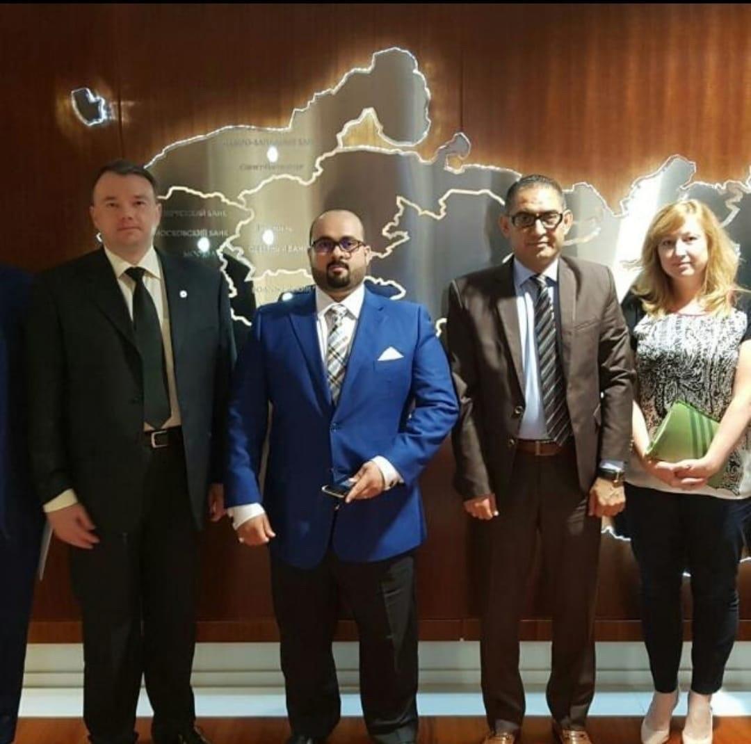 Встреча Сами Аль-Хелали в офисе СБЕРБАНКА, подписание договора с бизнесменами из Кореи, Саудовской Аравии